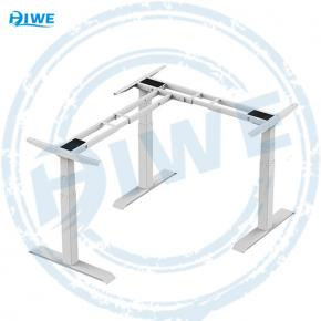 L-shaped Height Adjustable dual motor sit stand desk  3YJRT-ZF3 90°
